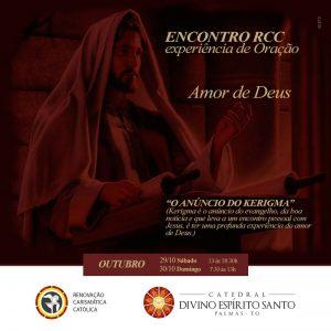 Amor de Deus é tema de encontro da RCC da Catedral