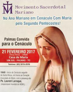 Participe do Cenáculo de Maria e consagre-se ao Imaculado Coração