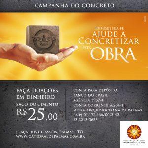 Catedral de Palmas lança campanha para arrecadar concreto