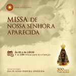 Padroeira do Brasil tem três missas em sua homenagem na Catedral de Palmas