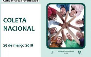 """Coleta Nacional: """"ocasião de tomar parte na Providência de Deus"""""""