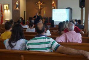 Tarde de palestra sobre nulidade matrimonial com padre Eduardo Zanom/ Foto: Heraldo Lima
