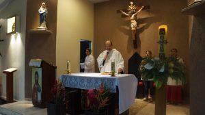 Foto: Padre Eduardo preside missa de entrega dos trabalhos do Festejo 2018 / Heraldo Lima