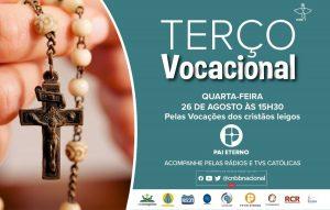 Terço Vocacional nesta quarta-feira terá renovação das promessas batismais