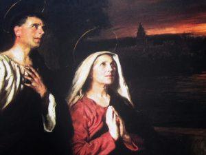 Santa Mônica mulher de oração a ser imitada
